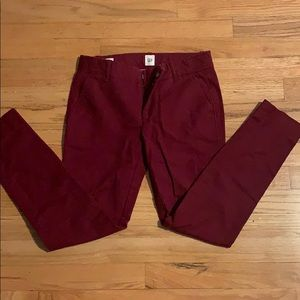 Gap khaki pants 00 red